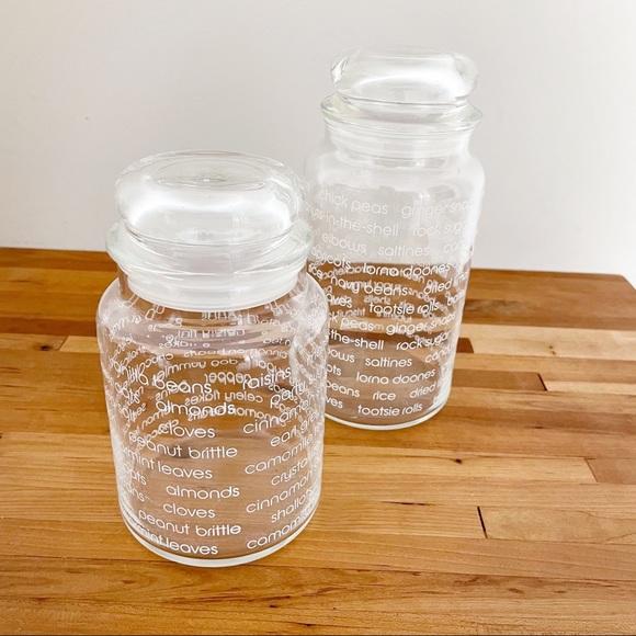 80s Graphic Vintage Storage Jars set of 2